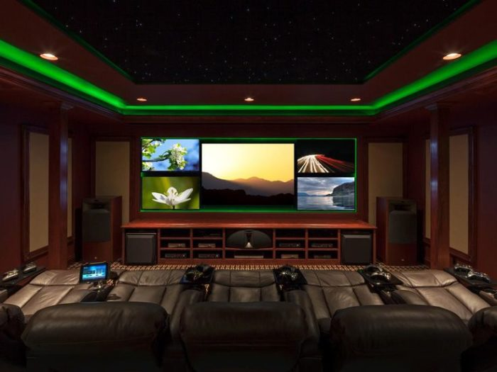 Example of a Console Gaming & Home Theatre Room