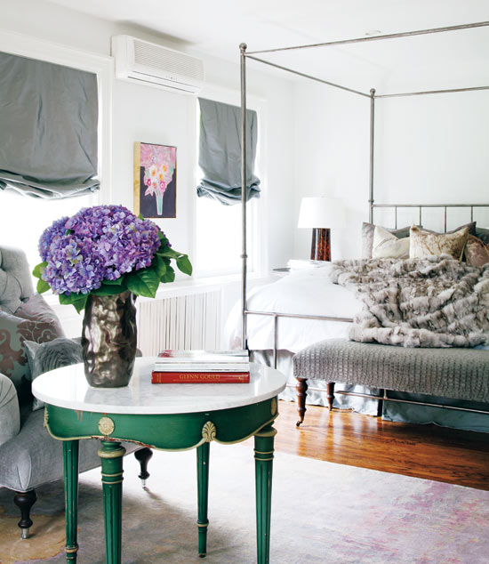 Fabulously feminine Flirty and girly, this bedroom reminds us of a fashionable French apartment in Paris. The hits of colour and abundance of texture ooze glamour.