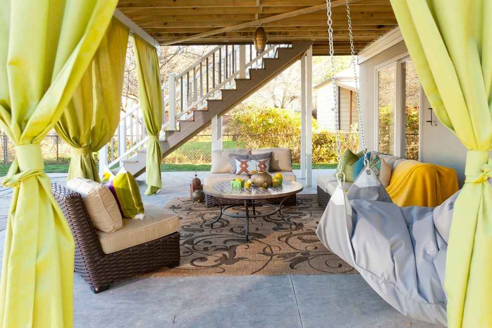 Outdoor living room rug sofas patio backyard curtains how to better decorating bible blog ideas - Outdoor design ideas for small outdoor space photos ...