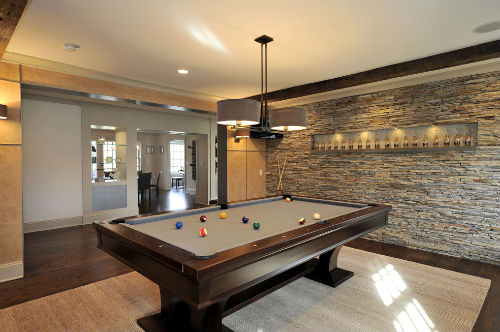 Accent wall Pool Table Livinator