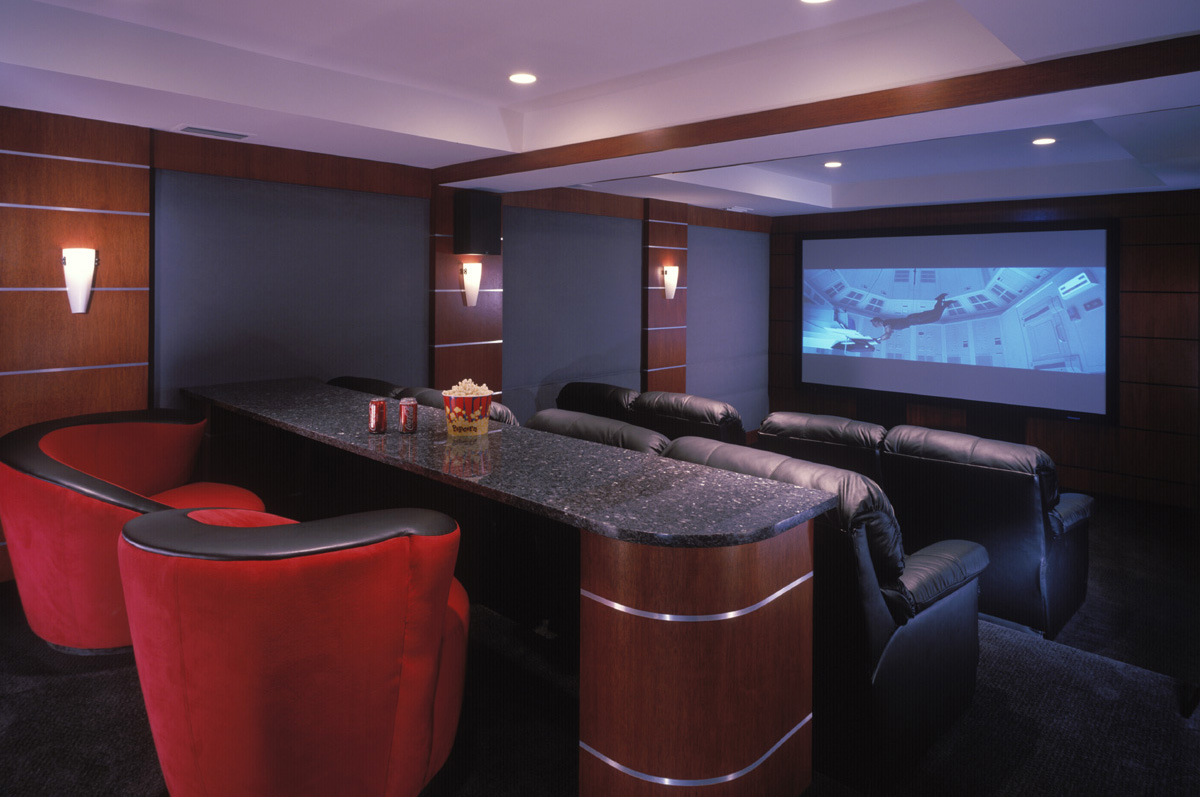 The ultimate movie room Interior design ideas home theater