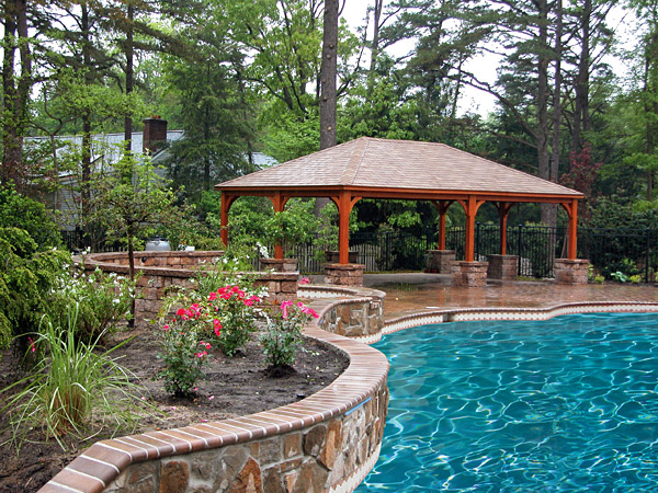beautiful backyard pavilions