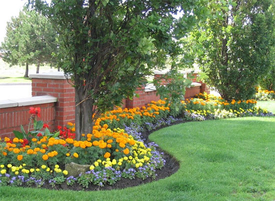 Fantastic flower bed ideas for Simple flower garden design