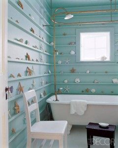 Shell-filled bathroom