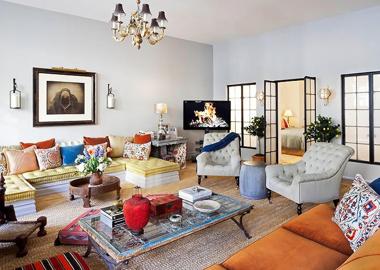 Eclectic Style New York Apartment Interior Design Home Decorating 16