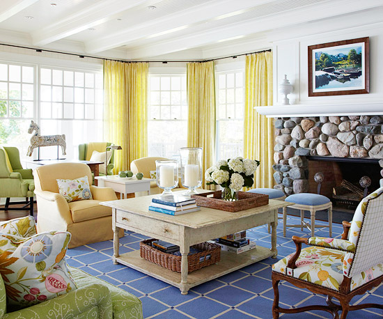 Turn on the charm with cottage style decorating for Cottage style family room