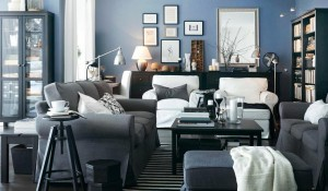 interior-dazzling-blue-living-room-design-with-grey-sofas-and-black-table-17-amazing-small-interior-ikea-design-ideas