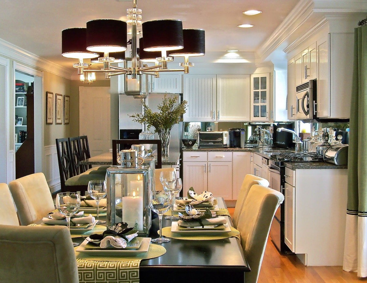 Appealing Kitchen And Dining Area Design Crossword Contemporary ...