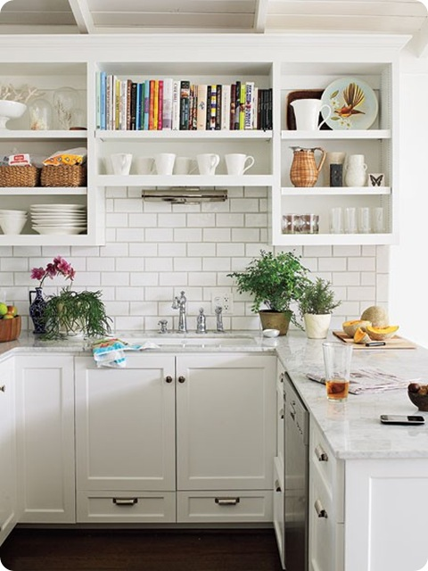Storage Solution Simple Open Kitchen Shelves: Space-saving Solutions For Small Homes
