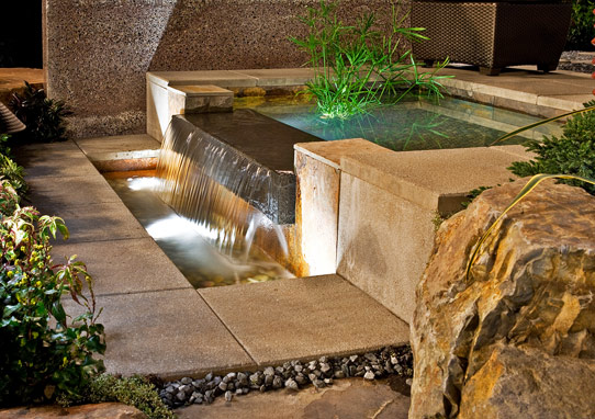 Relax with a backyard water feature for Backyard water feature plans