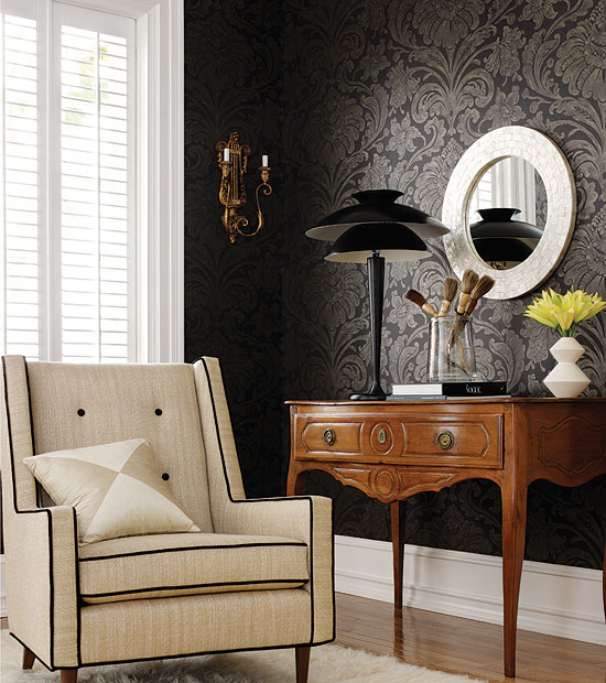 Enliven your walls and more with wallpaper for Black bedroom wallpaper designs