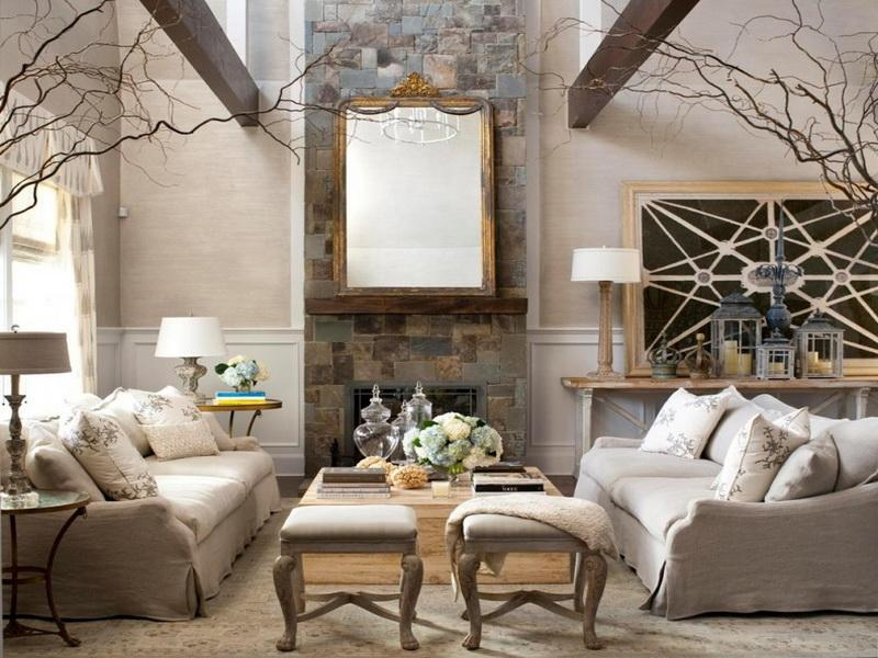 how to decorate rooms with high ceilings
