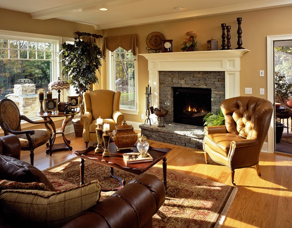 Creating a cozy living space for Warm living room decorating