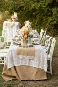 Enhance the look with rich burlap, jute, or twine