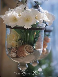 Beach Hanging Flower Vase