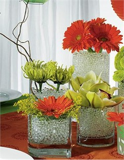 Try different vase fillers for a truly unique look
