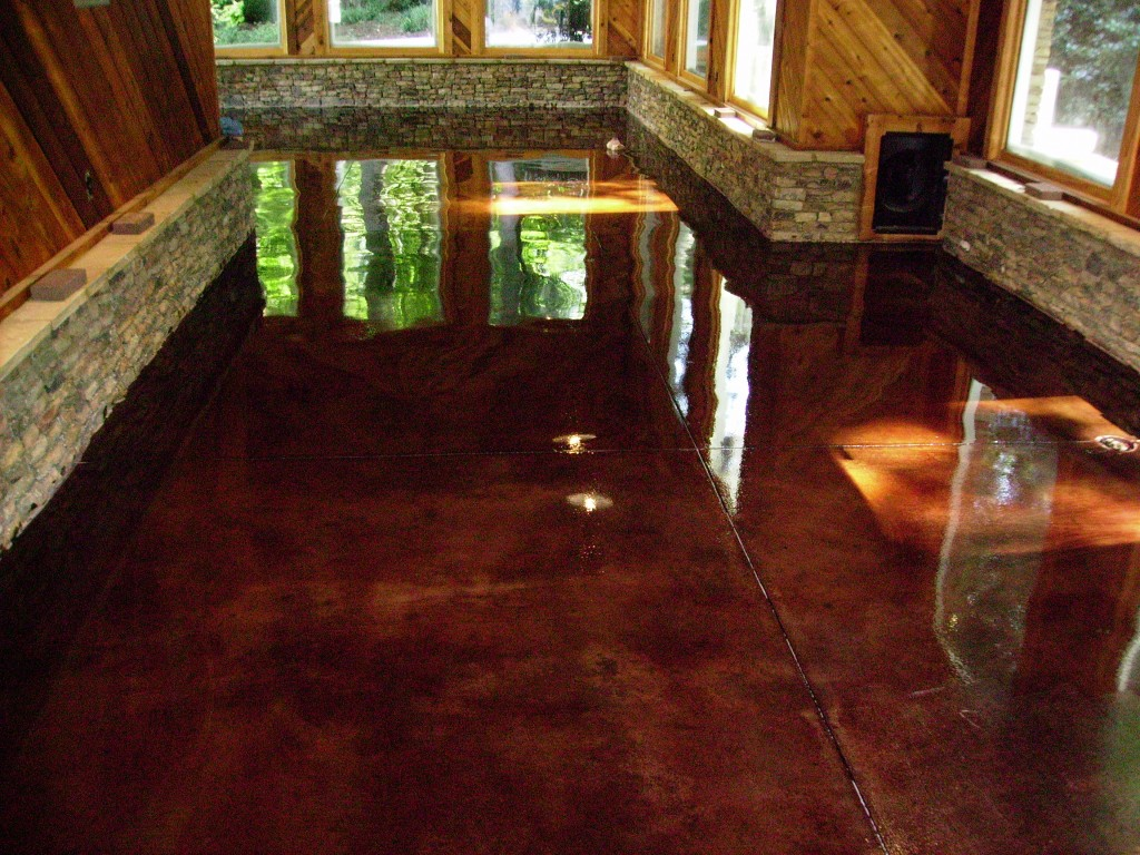 Custom Stained Concrete Floors : Concrete floors for variety and a fresh edge