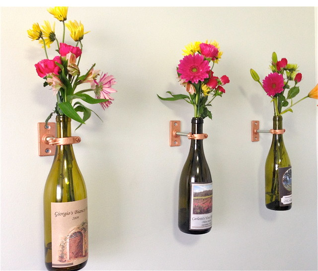 Upcycle wine bottles for a French look