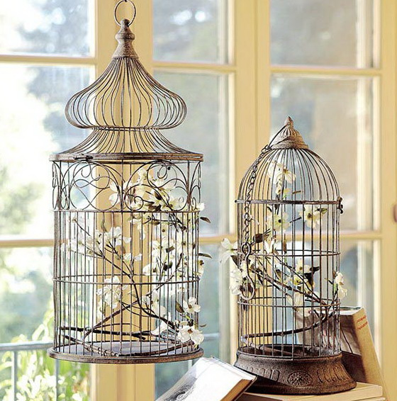 Birds Home Decor: Decorating With Vintage Bird Cages