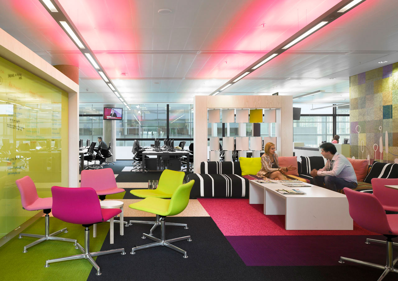 beautiful bright office. bold colors in this office dbeautifulhome beautiful bright g