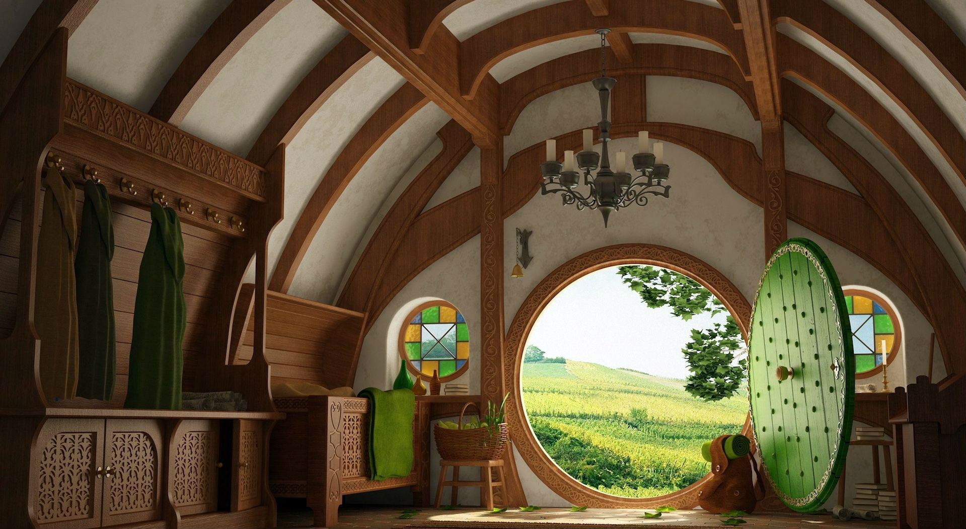 the magic of a hobbit house