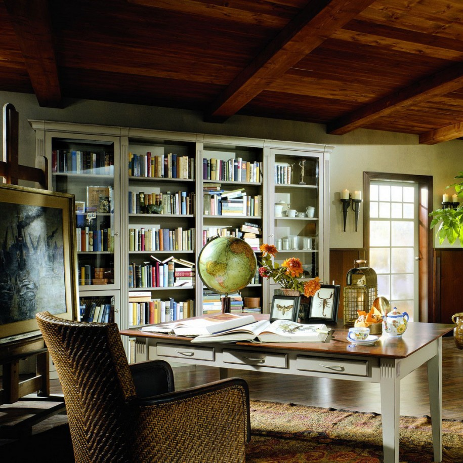 Houzify Home Design Ideas: Creating A Home Library In Any Space