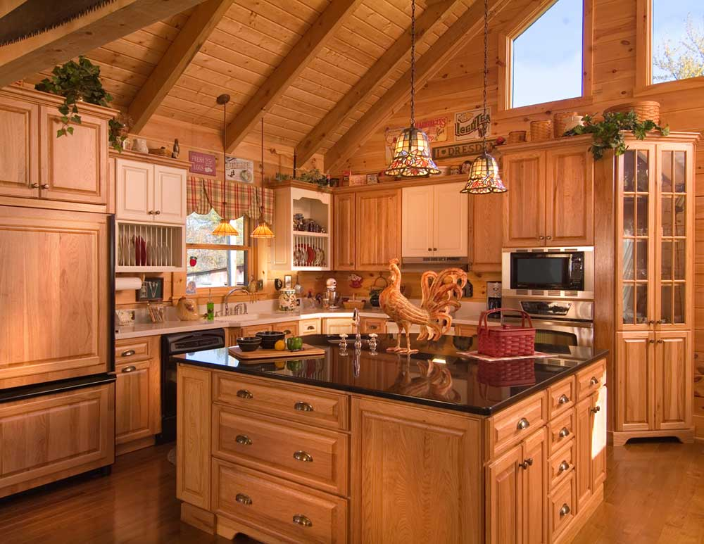 Log Home Kitchen (newknowledgebase) Part 93