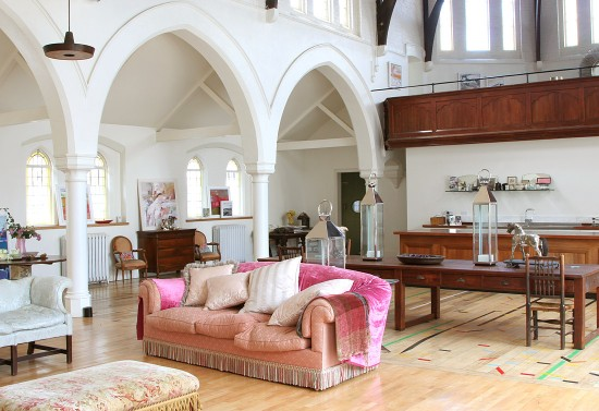 Open concept is central to the church to home conversion