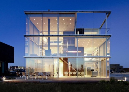 A beautiful glass house