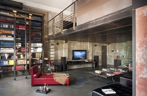 A loft that uses vertical space effectively