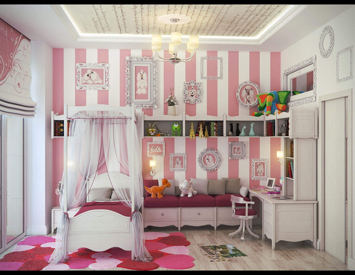 7 Inspiring Kid Room Color Options For Your Little Ones: Girls' Bedroom Ideas To Make Her Feel Like A Princess