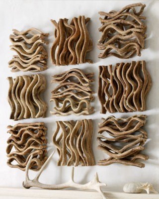 Natural wood wall display