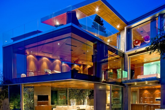 A glowing example of a glass house