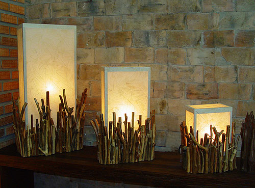 Unique wood lamps by Lamp Art Design
