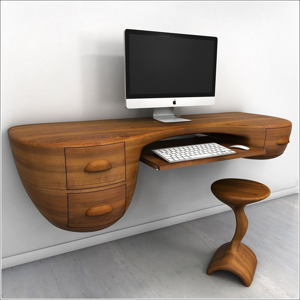 innovative desk designs for your work or home office. Black Bedroom Furniture Sets. Home Design Ideas