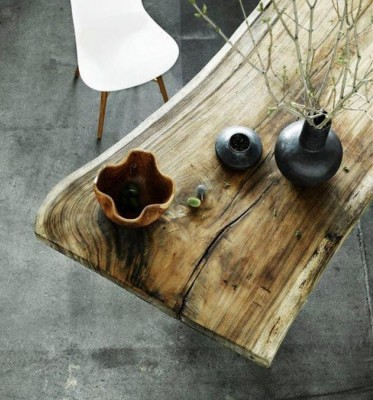 Beautiful natural wood table