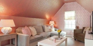 An upstairs hideaway for a diva's den