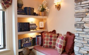 A corner of the room is all that is needed for a cozy nook