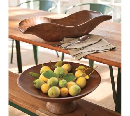 Decorative wood bowls are functional accents