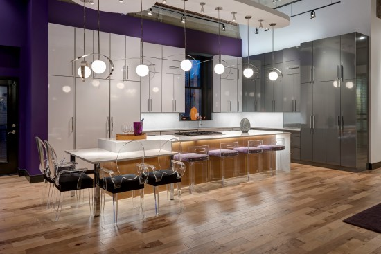 Sleek and sophisticated high gloss kitchen