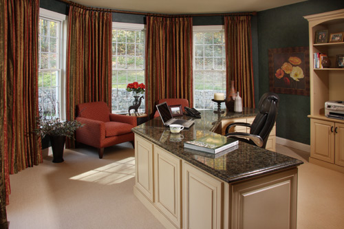 A warm office space designed by Sharon McCormick