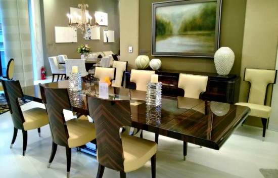 A beautiful glow on dining room table