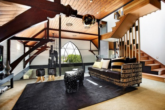 Loft area in converted church