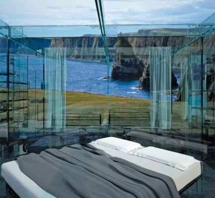 Waking to a stunning view in a glass house