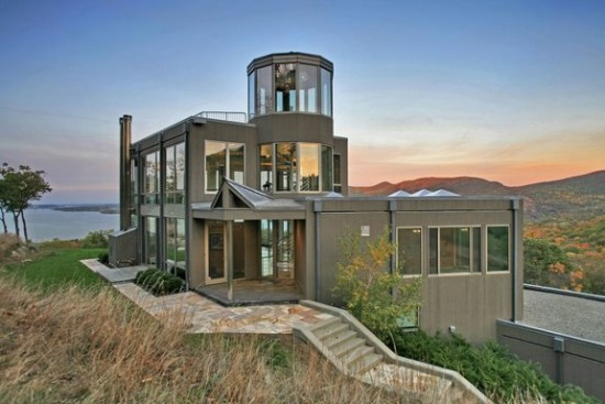 A beautiful hill-side glass house