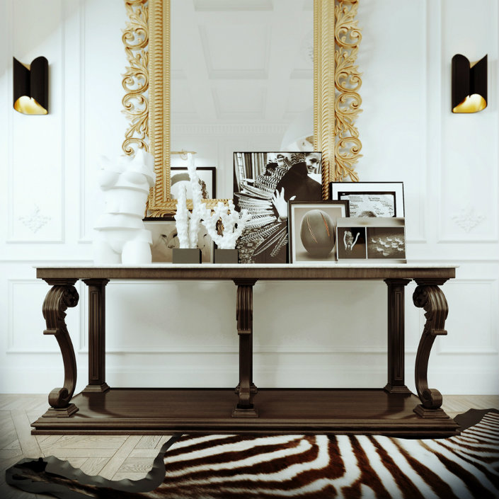 A beautiful console table accents this foyer. The Console Table   Stylish Function