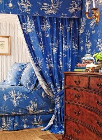 A modern and colorful interpretation of toile