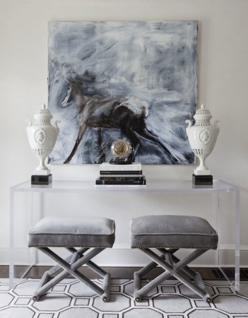 Perfect symmetry adds to the style of this console table