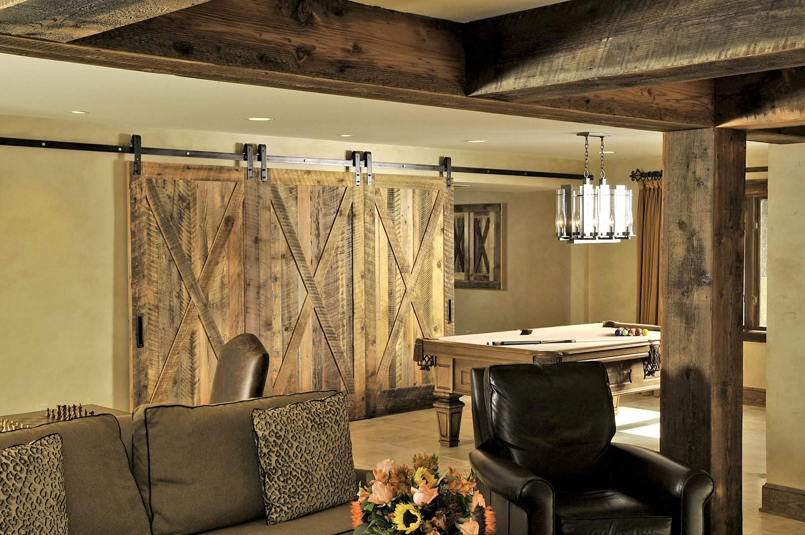 Reclaimed wood let it tell a story in your home for Barn style interior design