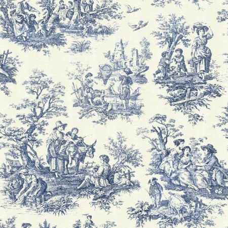 Traditional pastoral scenic toile
